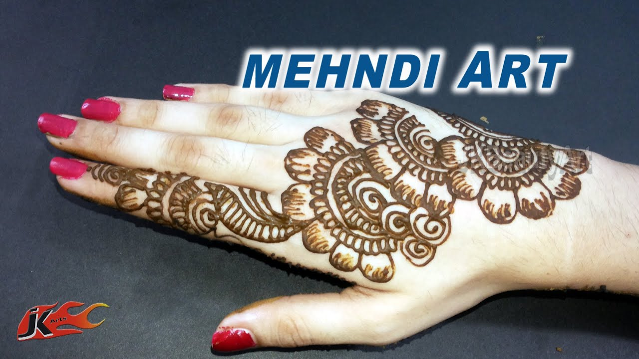 Easy mehndi designs for back hands arabic | JK Beauty Art ...