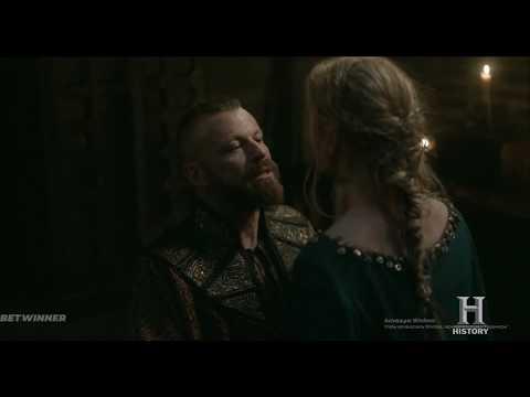 Король Харальд берет силой вторую жену Бьерна (сериал Викинги)