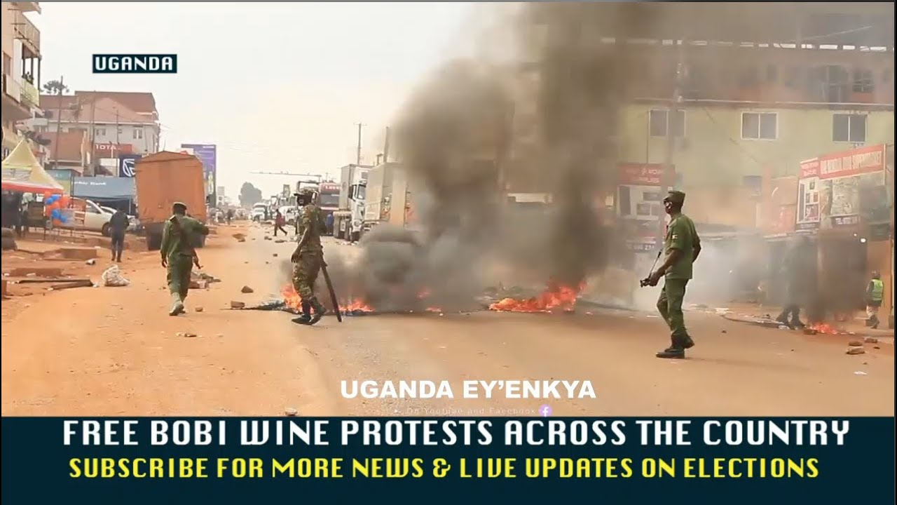 LIVE-BOBI WINE STILL IN JAIL-UGANDANS DEMAND FOR HIS RELEASE-HIT THE STREETS & STRIKE FOR THIRD