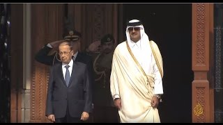 أمير قطر والرئيس اللبناني يتفقان على إحياء اللجنة العليا