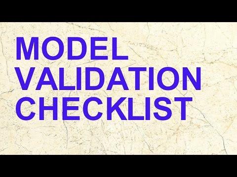 Model Validation Check List | Risk Model | Model Documentation