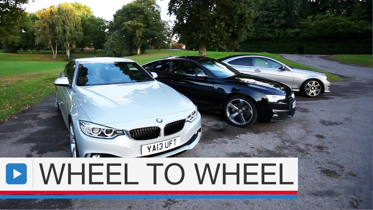 audi a5 coupe vs bmw 4 series coupe vs mercedes c class coupe youtube. Black Bedroom Furniture Sets. Home Design Ideas