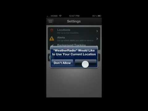 iMap Weather Radio 2.0 for iPhone