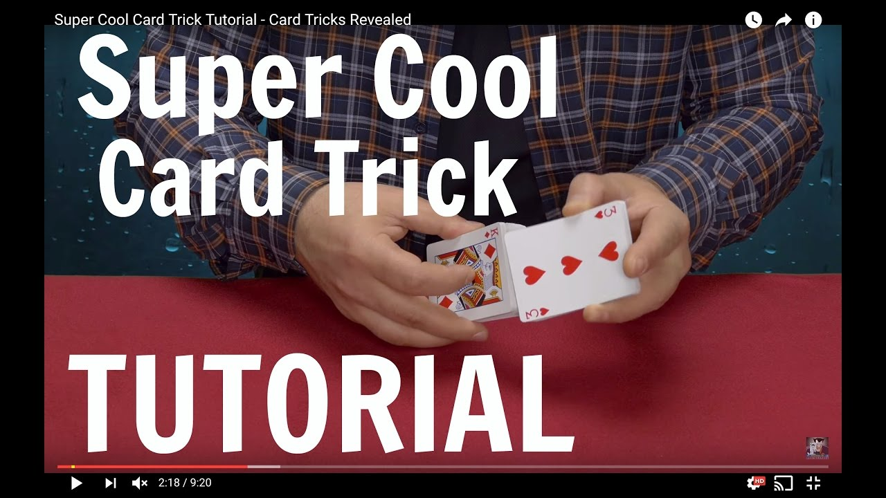 super cool card trick tutorial card tricks revealed youtube