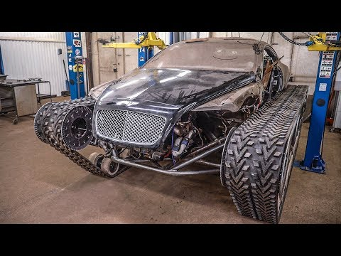 Bentley Ultratank. Кузов установлен на шасси.