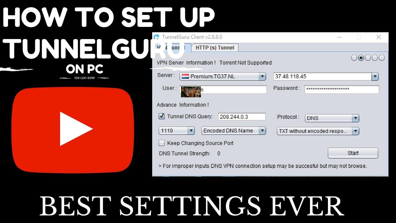 HOW TO SET UP TUNNELGURU (BEST SETTINGS EVER)