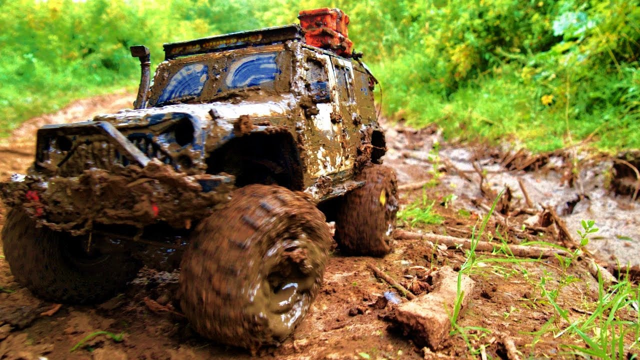 Rc car off road | Police car racing through the mud | RC ADVENTURES