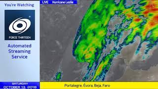 Hurricane Leslie, Cyclone Luban Live Update - 2pm UTC Oct 13, 2018
