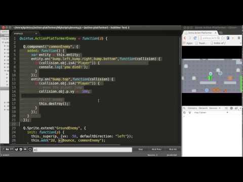 HTML5 Mobile Game Development Tutorial, Vertical Enemies