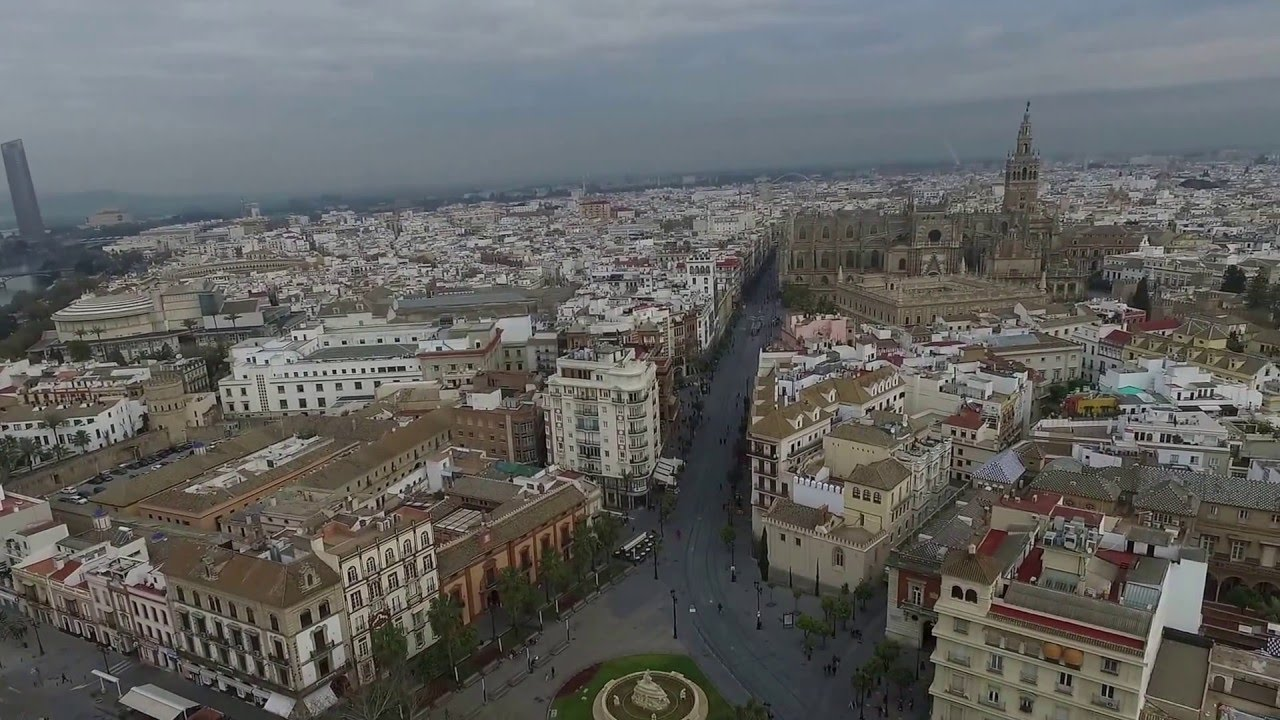 Dji Phantom 3 Drone >> Seville Spain Drone Aerial DJI - YouTube