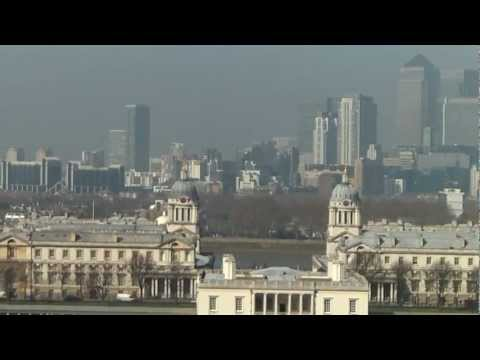 London - view from Greenwich point, National Maritime Museum