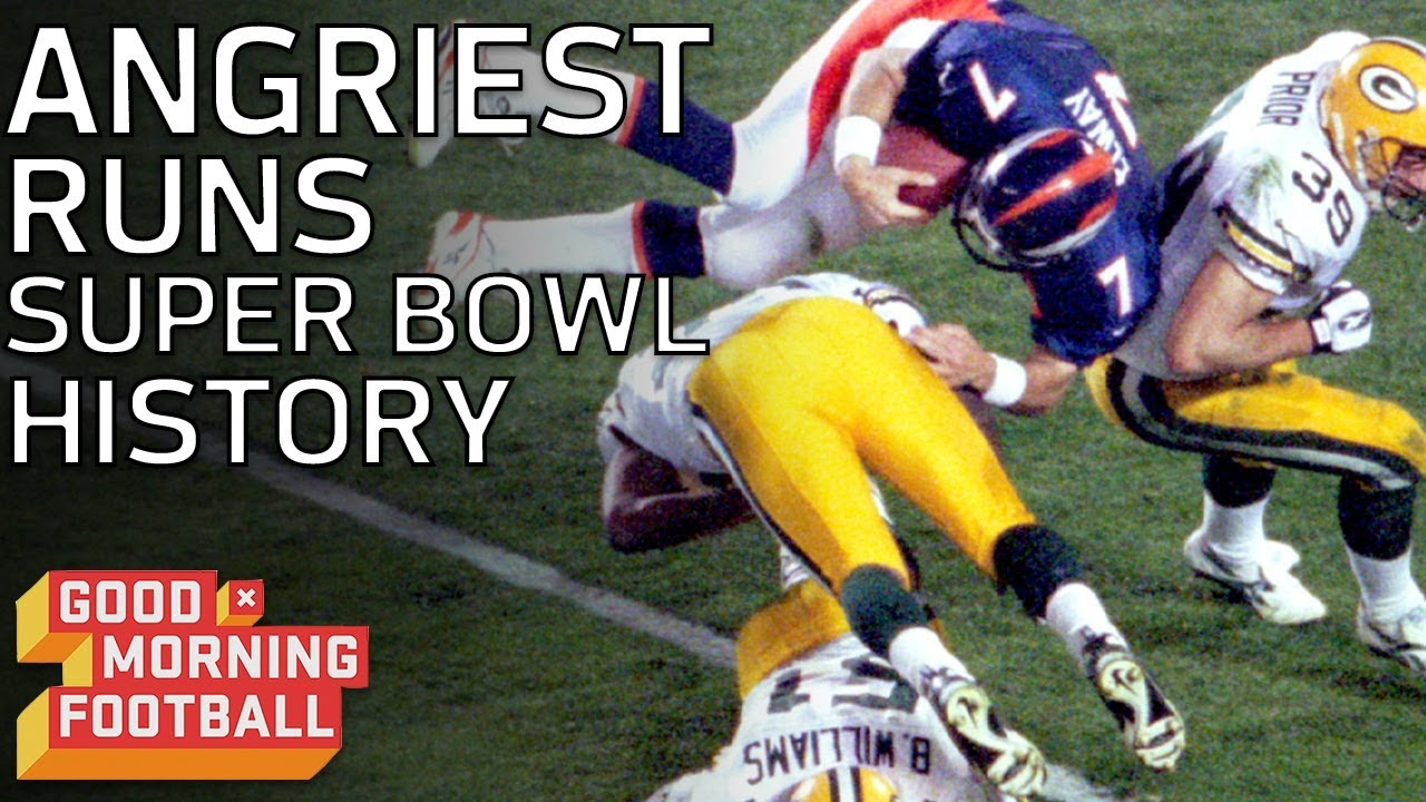Top 4 Angriest Runs In Super Bowl History Good Morning Football Nfl Network Youtube
