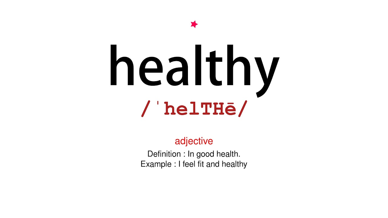 How to pronounce healthy - Vocab Today
