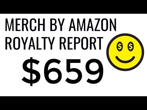 $659 in ROYALTIES for Merch by Amazon in February 2018