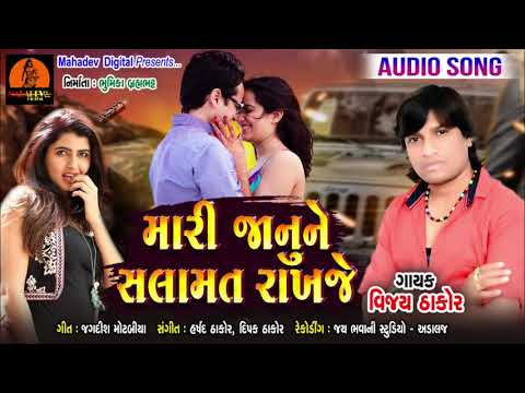 Mari Janu Ne Salamat Rakhje (મારી જાનુ ને સલામત રાખજે) || Vijay Thakor Full Audio Song ||