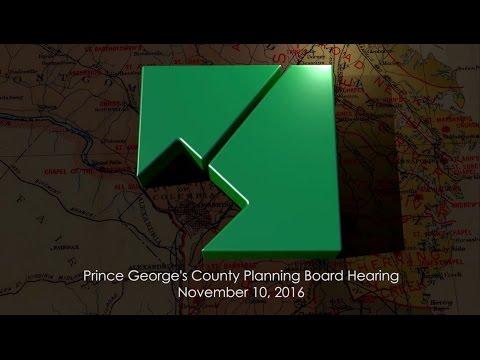 M-NCPPC Planning Board Meeting - November 10, 2016