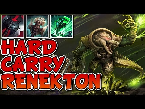 HARD CARRY RENEKTON IS BACK! | LEAGUE OF LEGENDS GAMEPLAY