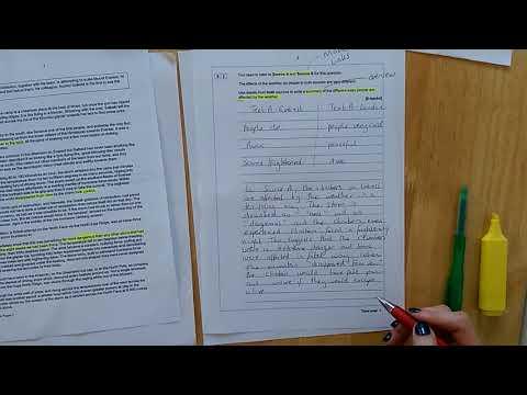 2018: Miss Carter Bridge Academy English Language Paper 2 Q2