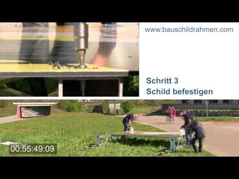 Montage Bauschildrahmen Imhof + Kempf GmbH Steinach