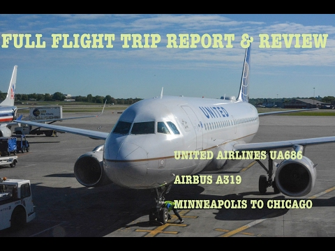 FLIGHT TRIP REPORT & REVIEW || UNITED Airbus A319 || Minneapolis to Chicago O'Hare || Economy