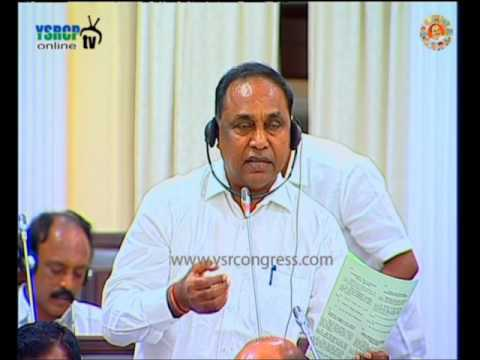 AP Assembly : YSRCP MLA Pothula Rama Rao speaks over National investments and Ports - 30th Mar 2016