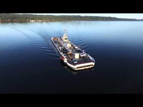 Aerial Views of the new Buckley Bay Cable Ferry