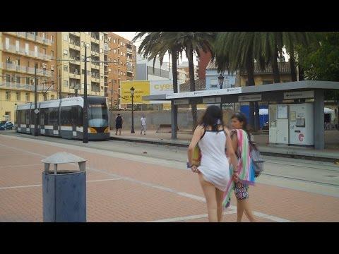 Valencia Airport Metro 5 from Beach & Port