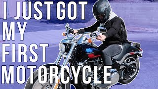 I GOT MY FIRST MOTORCYCLE!!!!