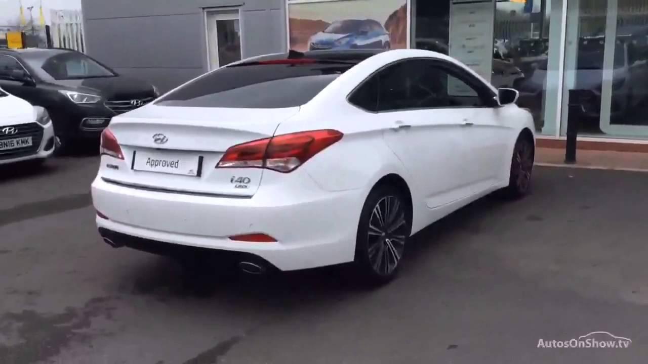 Hyundai I40 Crdi Premium Blue Drive White 2015 Youtube
