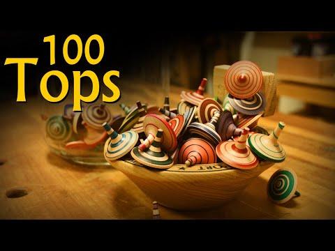 Turn 100 Toy Tops in 5 minutes - MakeItMonday