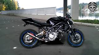 Suzuki SV650 Best Full 12 Exhaust Sound, Holeshot,Laser,GPR,Akrapovic,Stock Exhaust,SC Project