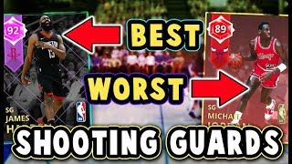 TOP 5 BEST/WORST VALUE SHOOTING GUARDS in NBA 2K18 MyTEAM! (January)