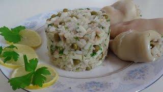 Салат с кальмарами.