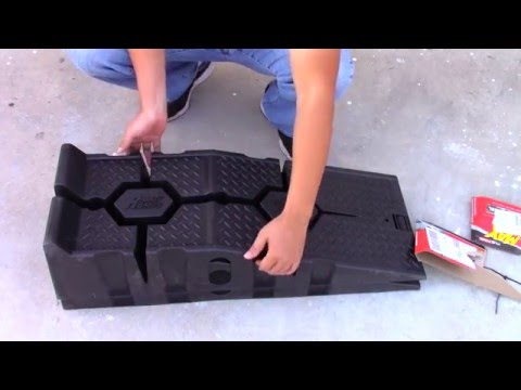 Rhino Ramps by flo tools review and how to use them. ( 16000 lbs version )