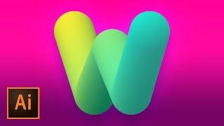 3D Bubble Text Logo Mark Design Illustrator Tutorial