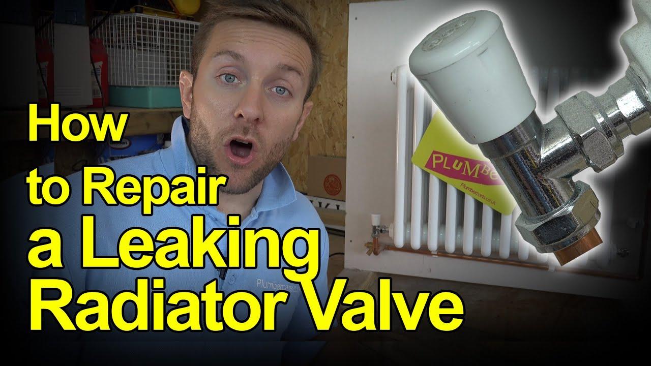 HOW TO REPAIR A LEAKING RADIATOR VALVE - Plumbing Tips ...