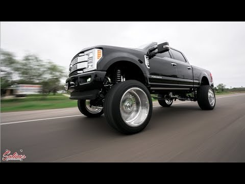 2017 F250 On 26x14 Specialty Forged Wheels Beautiful Black And Chrome Youtube