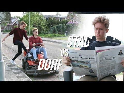 LEVEN IN EEN STAD vs IN EEN DORP!