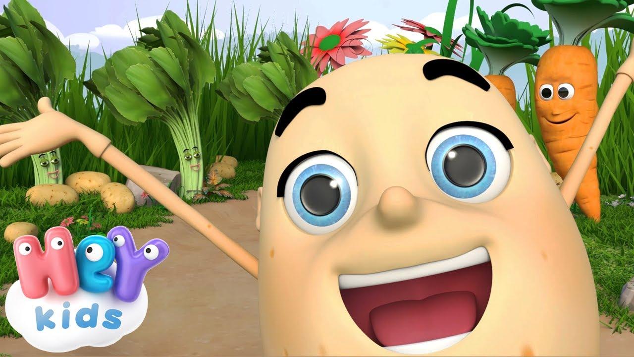 Pan Kartofelek 🥔 Uczymy się części ciała | Piosenki dla dzeci - HeyKids