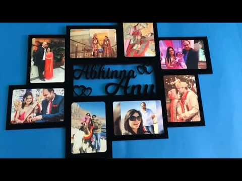 Awwsme Customized Wall Frame With Names / Personalized Wall Frame For Gifting