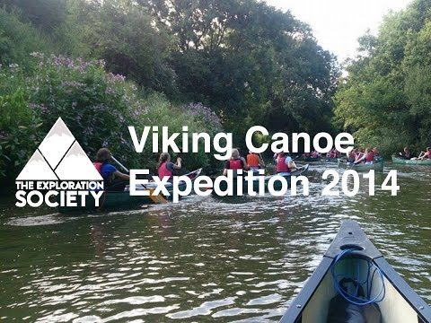The Exploration Society - Viking Canoe Expedition on the River Medway 2014