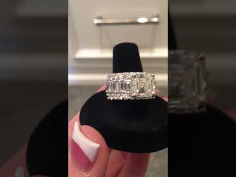 11.27 carat Asscher cut diamond ring