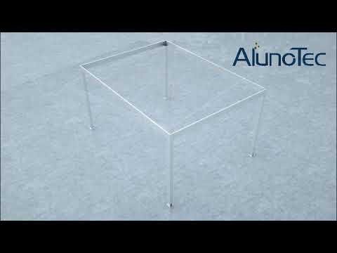 DIY Installation of Aluminum Pergola Gazebo from Alunotec