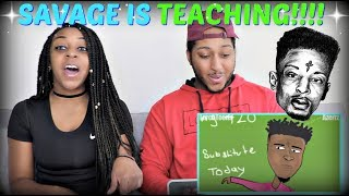21 Savage - Issa Lesson | Parody (Music Video) By Azerrz REACTION!!!