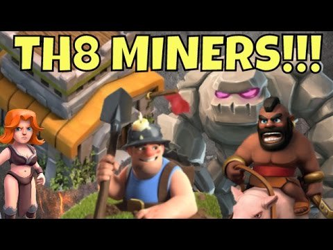 Th8 MINERS Added To GoHo/GoVaHo Strategy For Clash Of Clans