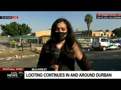 KZN Unrest   Mop-up operation under way in Pietermaritzburg following looting