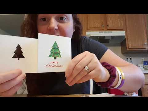 E2 Small DPs and Christmas cards unboxing.
