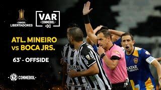 CONMEBOL Libertadores   Revisión VAR   Atlético Mineiro vs Boca Juniors   Minuto 63