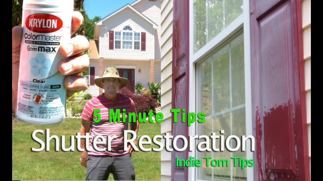 Restore Faded Shutters using clear coat paint by Tommy Productions