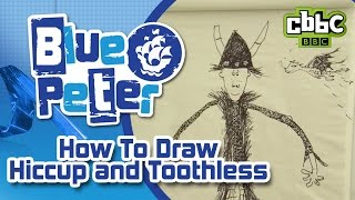 How to draw Hiccup and Toothless from How To Train Your Dragon - CBBC Blue Peter